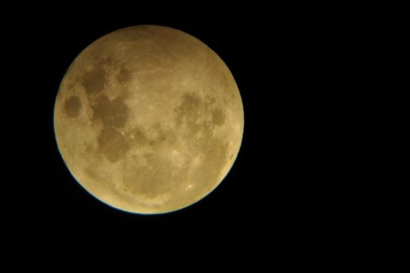 Земная тень частично затемняла поверхность Луны
