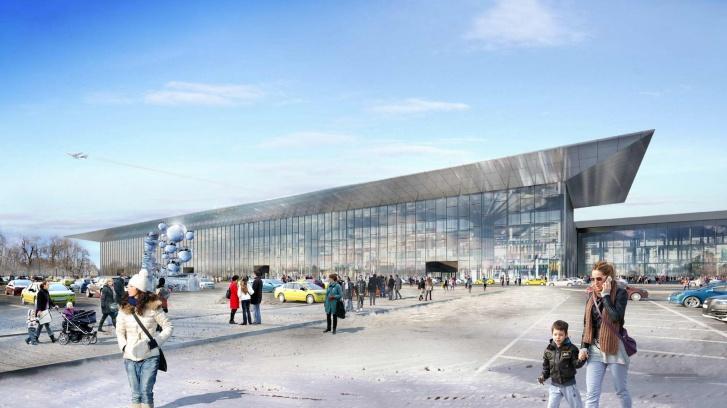 Так выглядели первые эскизы нового аэропорта Новосибирска