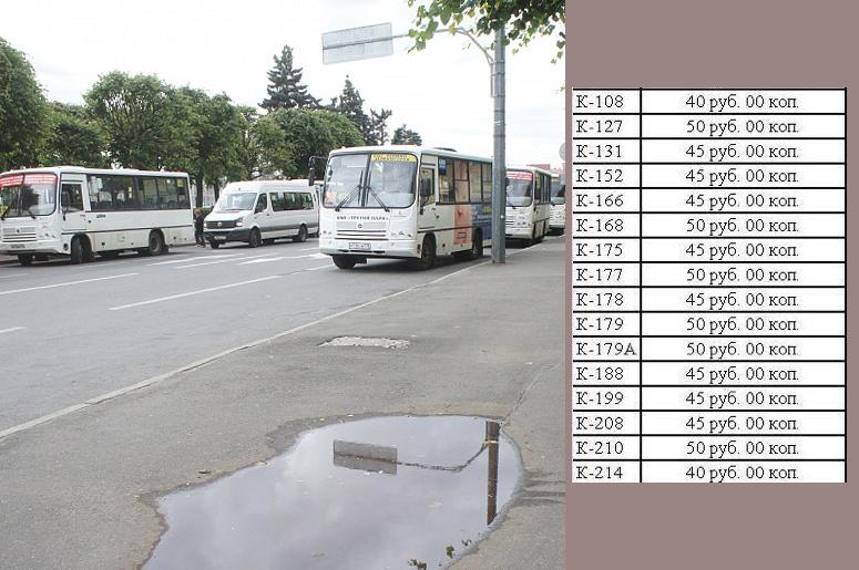 список маршрутов ОАО «Третий парк», на которых выросла стоимость проезда