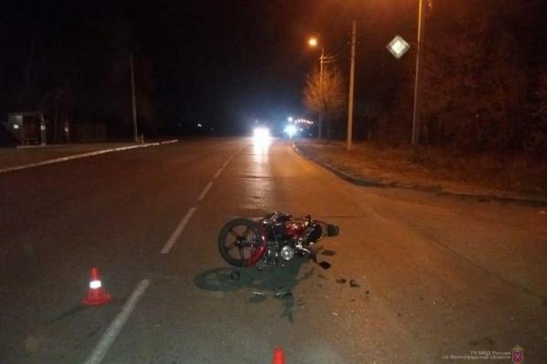 В аварии пострадал не только мотоциклист, но и его пассажир