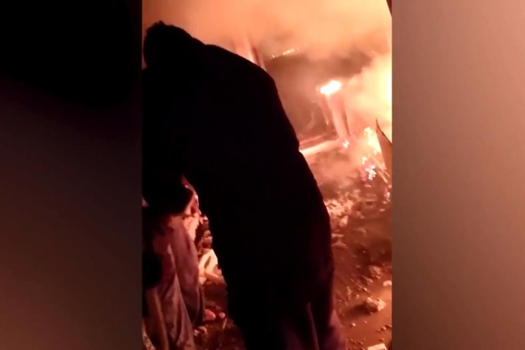 Зариф Ниязов в горящей квартире