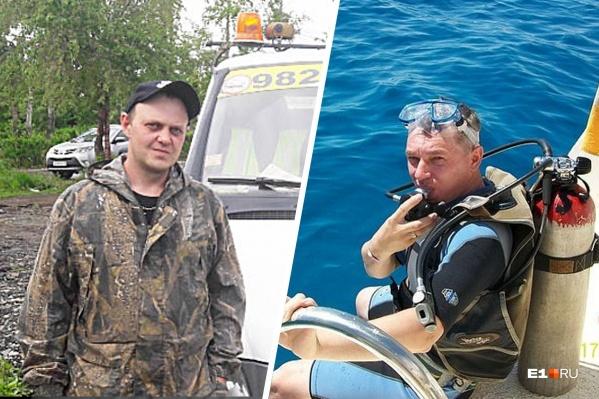 Обвиняемый Сергей Чабин (слева)