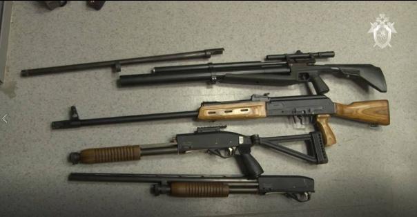 Оружие, найденное в доме Алексея Александрова