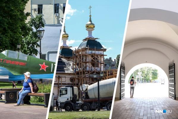 На территории кремля всё ещё ведутся работы в разных местах, но уже сейчас есть на что посмотреть