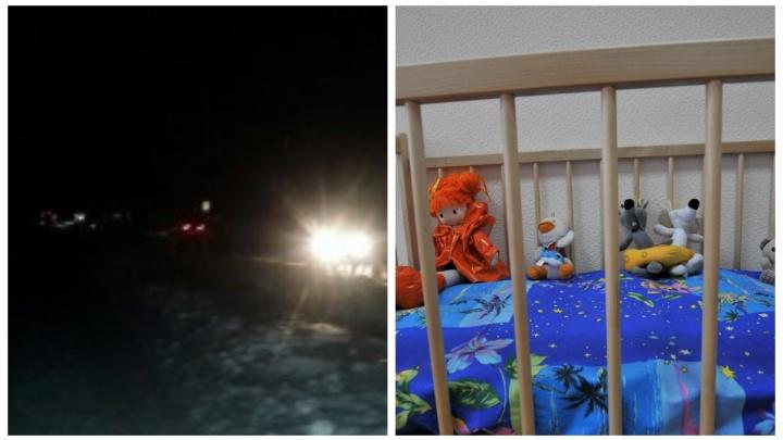 «Почти километр без фонарей и тротуаров»: в Екатеринбурге родители пожаловались на дорогу в садик