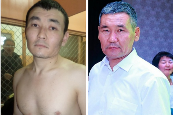 Эгембердиев (слева) был наводчиком, а пытались отнять сумку с деньгами и потом застрелили Каримова сообщники Эгембердиева