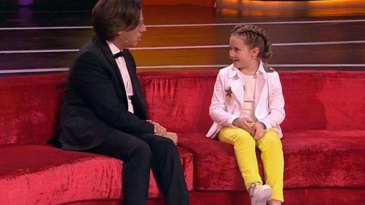 Ест «лягушек» и «слонов»: девятилетняя архангелогородка научила Галкина управлять временем — видео