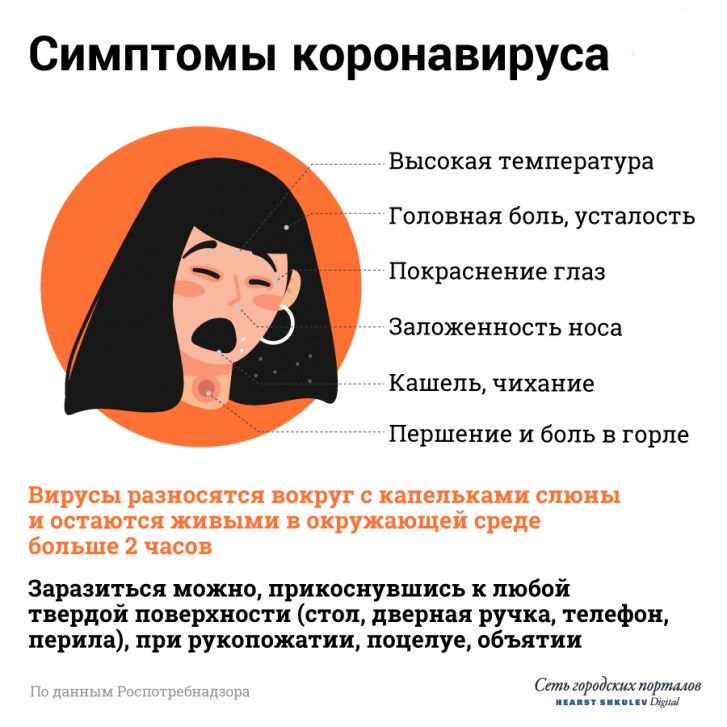 Все симптомы коронавируса — в одной картинке