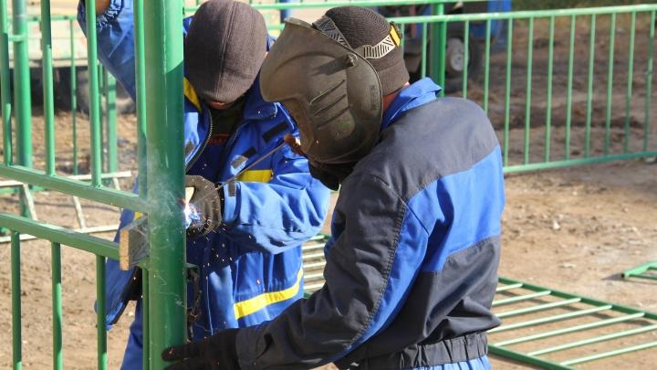 Реконструкция спортивных площадок в Омске будет завершена до конца октября