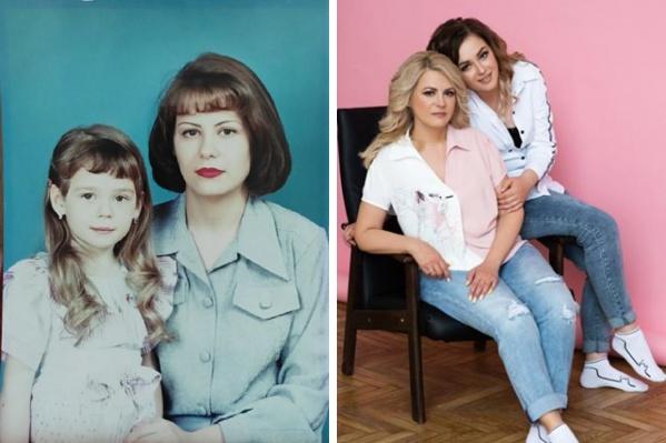 На первом фото Ирине 25 лет, а её дочери Екатерине — 5. Ирина говорит, что поддерживать себя в форме ей помогает жизнелюбие, уверенность и любовь к себе<br>