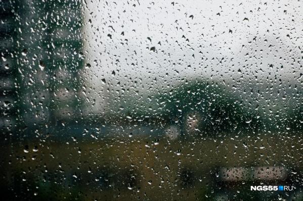 Местами по Омской области ожидаются ливень и гроза