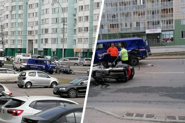 Авария произошла сегодня днём