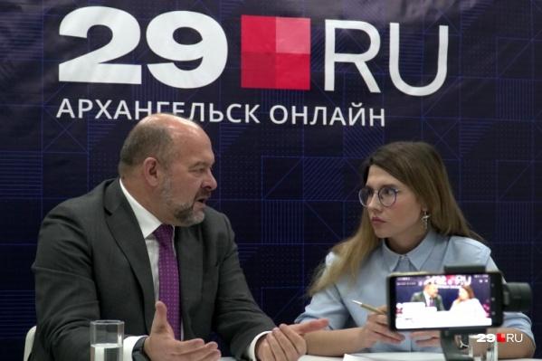 Последнее интервью с Игорем Орловым в должности губернатора Архангельской области в редакции 29.RU