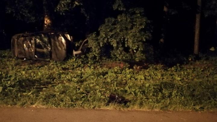 «Сделал несколько оборотов»: в Ярославле молодой водитель врезался в дерево