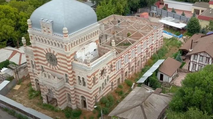 В Самаре хоральную синагогу оставили без крыши: видео