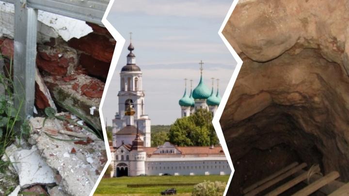 За белыми стенами — разруха: смотрим, на что в Толгском монастыре потратят 62 миллиона рублей