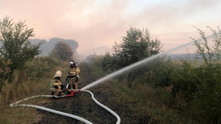 На левом берегу Дона снова вспыхнул пожар