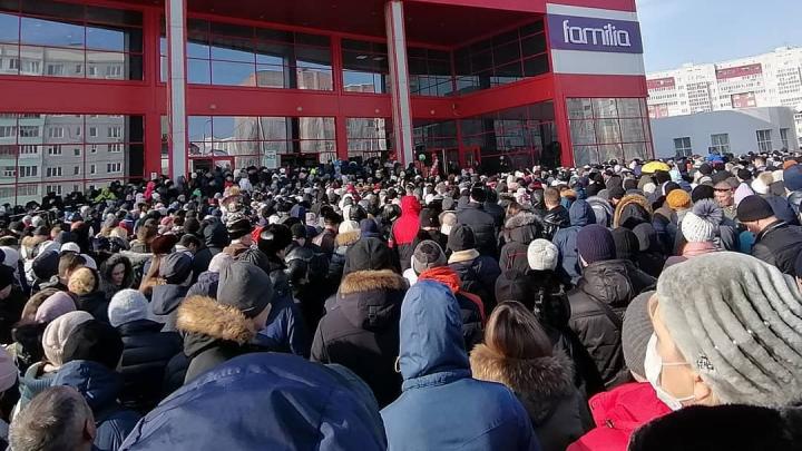 В Башкирии горожане устроили давку на розыгрыш автомобиля