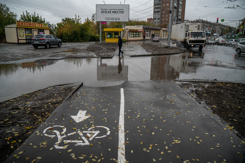 Где-то велодорожка пропадает вовсе