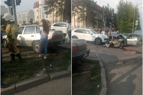 Столкновение произошло на выезде на Московском тракте