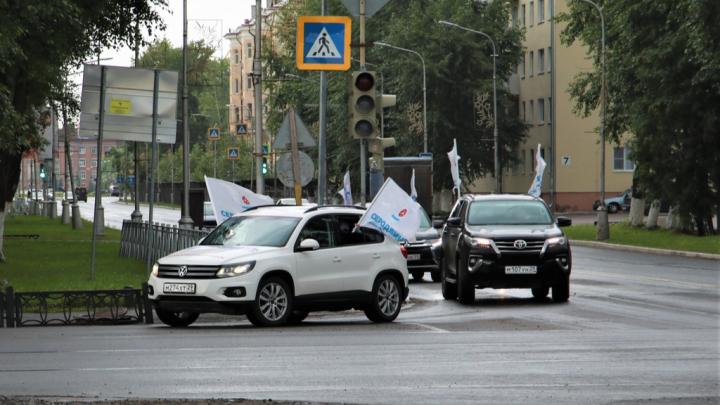 В Поморье закончился автопробег в поддержку признания Северодвинска «Городом трудовой доблести»