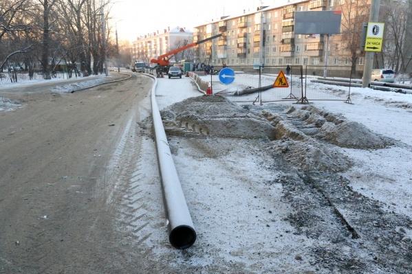 Дорогу на улице Куйбышева закрывают несколько раз в год