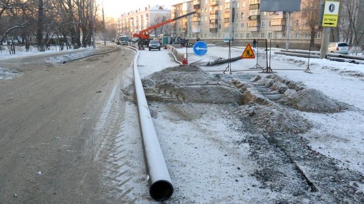 «Просьба потерпеть»: на улице Куйбышева в Кургане начинают модернизацию коллектора