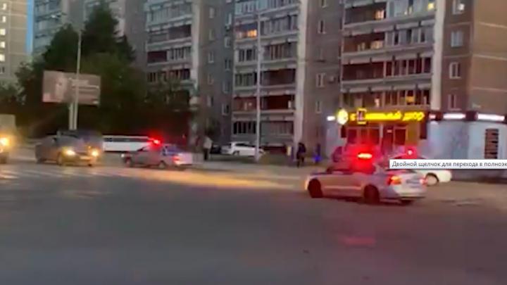 На Эльмаше четыре машины ГИБДД гнались за нарушителем: видео