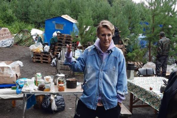 Ксения Собчак активно общается с борцами за Куштау