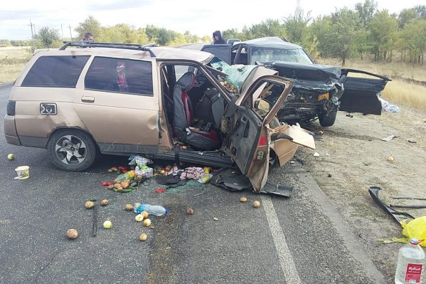 Авария произошла на трассе Волгоград — Сальск