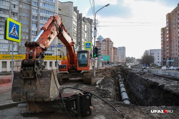 Улица уже находится на реконструкции