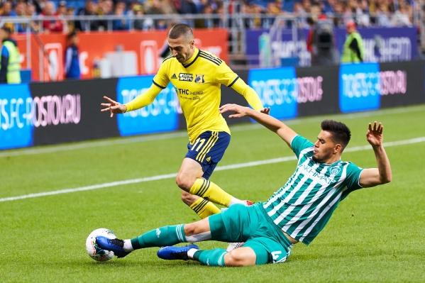 Матч первого круга завершился победой «Ростова» со счетом 2:1