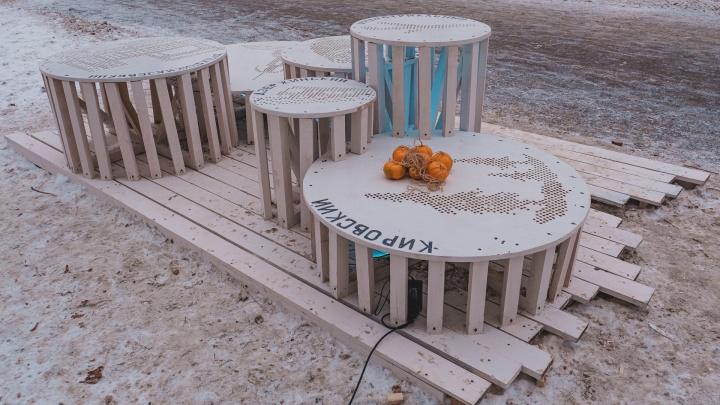 В Мотовилихе появились арт-объекты «7 районов» и «Голуби в облаках», придуманные детьми