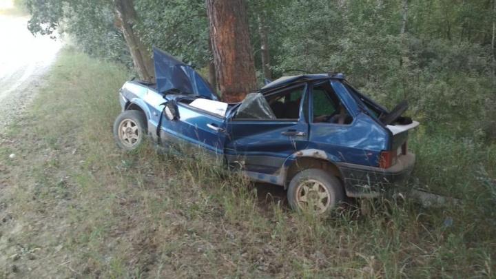 Подросток из Новосибирска погиб за рулём — ночью он врезался в дерево