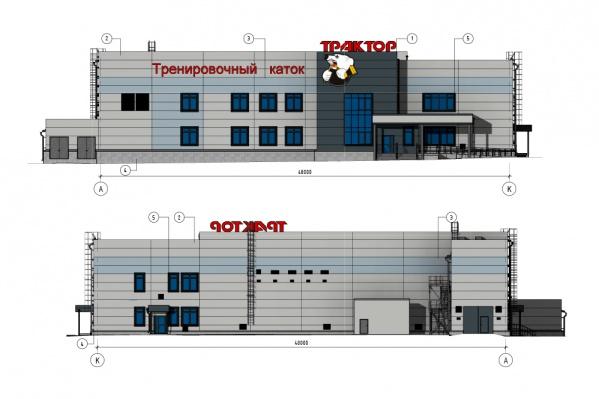 Здание будет двухэтажным и разместится на Северо-Западе Челябинска, около арены «Трактор»