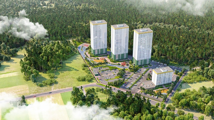 В Новосибирске строят ЖК «Сокольники», как в Москве, — фото, как он выглядит