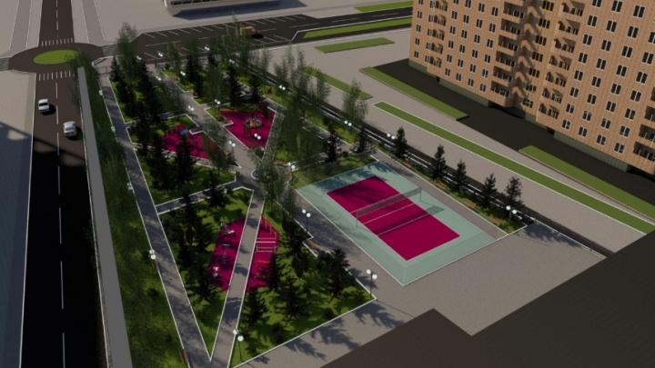 Приборный завод обновит сквер Трех поколений на 1-й Красноармейской. Смотрим проект