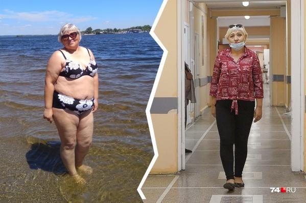 Гизелла Плаксина год назад весила 123 килограмма, сейчас — 82