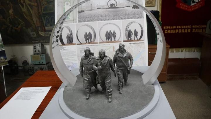 В Красноярске выбрали эскиз для памятника героям авиатрассы «Аляска — Сибирь» у автовокзала