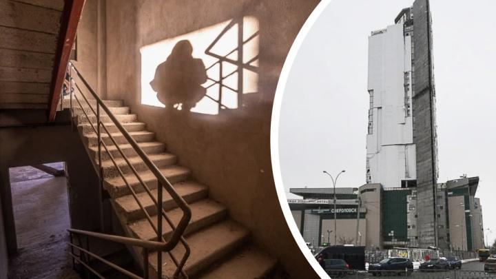 Заброшенный Екатеринбург. Гуляем по «небоскребу-призраку» у Северного автовокзала, который должны снести