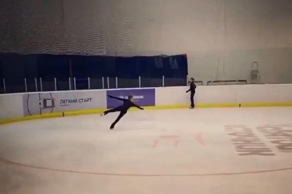 Сложный прыжок Вероника Жилина выполнила на одной из своих тренировок