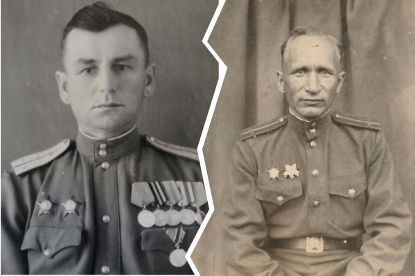 Слева — Михаил Семенович Хохонов, справа —Игнатий Николаевич Васенёв
