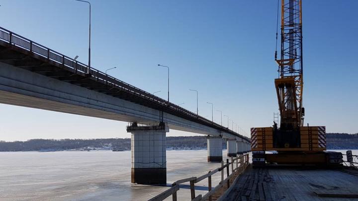 Строительство Чусовского моста в Перми идёт с отставанием