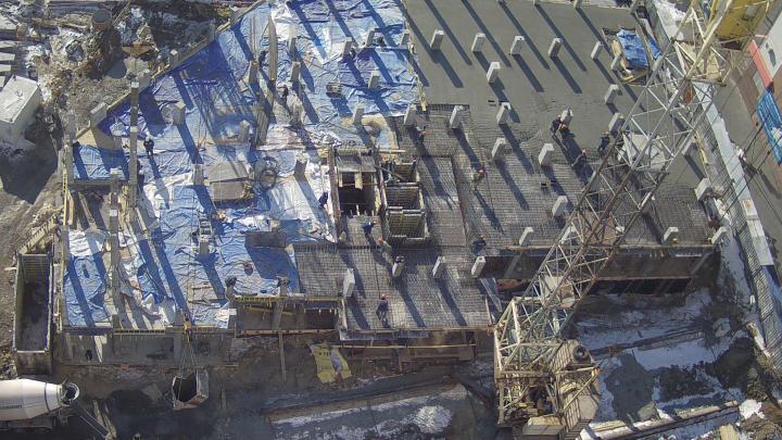 На стройплощадке крупного микрорайона в Челябинске обрушились перекрытия