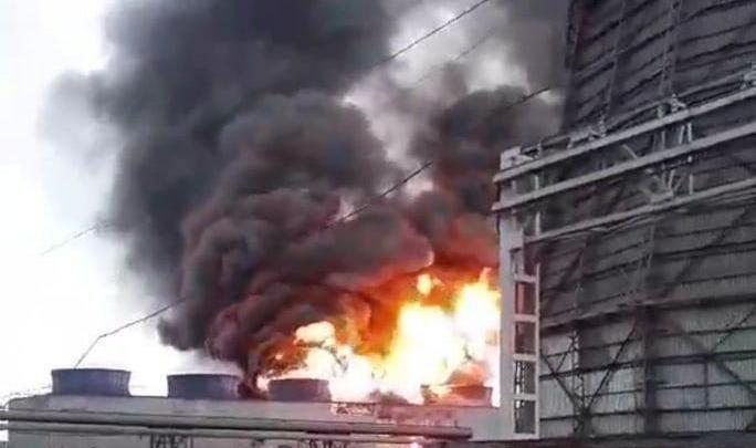 В Ачинске загорелась ТЭЦ глиноземного комбината