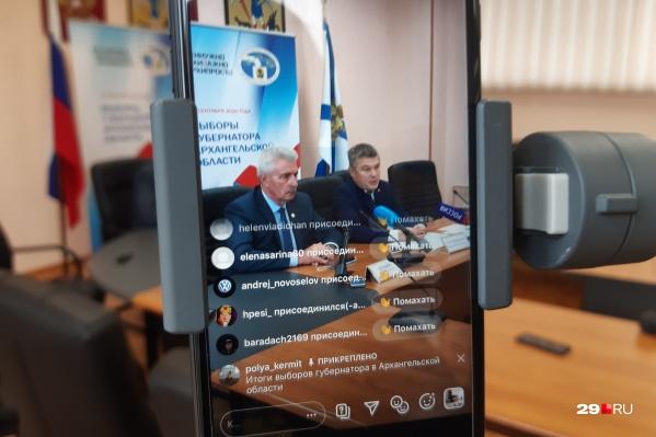 На вопросы ответили Андрей Контиевский, председатель избирательной комиссии и Юрий Сердюк, председатель региональной Общественной палаты