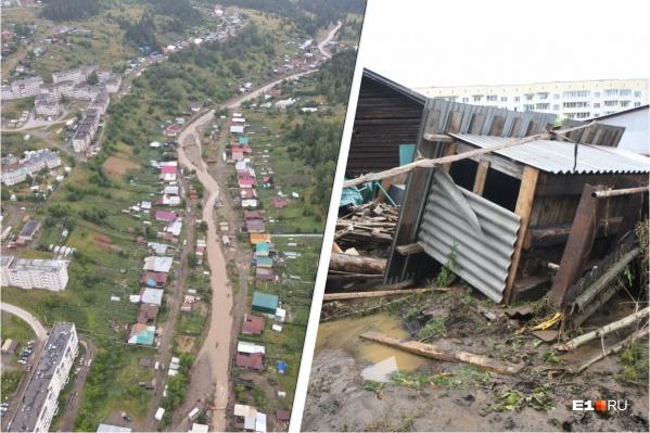 Надворные постройки в домах у реки разрушены