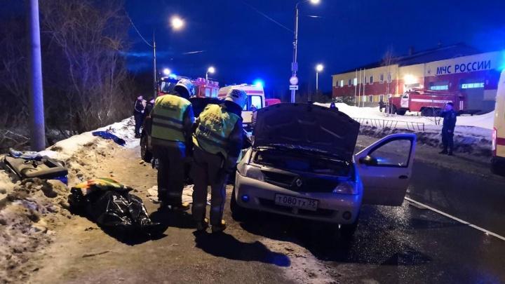 В Сети появилось видео ДТП в Архангельске, в котором погибла жительница Череповца