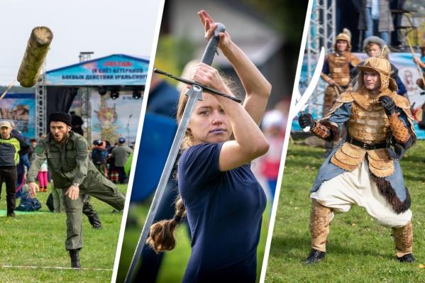 В Екатеринбурге казаки устроили фестивальбоевых искусств на берегу Шарташа