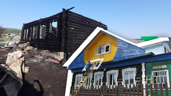 «Все сгорело за полчаса»: в Башкирии пожар уничтожил туристический дом у горы Иремель